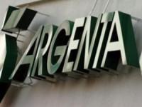 Het bord van een Argenta bank in Nederland