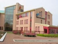 Het pand van het voormalig hoofdkantoor van de DSB Bank te Wognum (Friesland)
