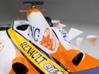 ING was twee jaar hoofdsponsor van het Renault Formule 1 team