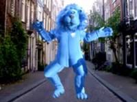 Ook de blauwe Postbank leeuw is sinds begin 2009 uit het straatbeeld verdwenen
